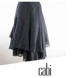 CAbi Asymmetrical Layered Cotton Silk Skirt